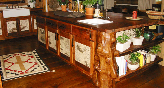 Birchbark Kitchen Island